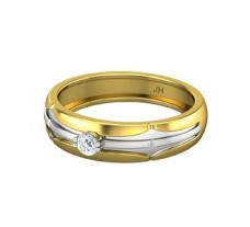 Natural Diamond Band for Men 0.15 CT / 5.20 gm Gold