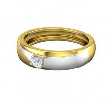 Natural Diamond Band Men 0.15 CT / 5.30 gm Gold