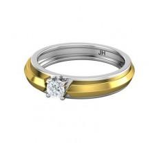 PreSet Natural Solitaire Diamond Band Men 0.30 CT / 5.40 gm Gold