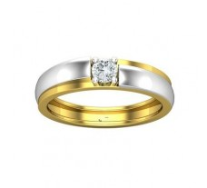 PreSet Natural Solitaire Diamond Band Men 0.30 CT / 6.70 gm Gold