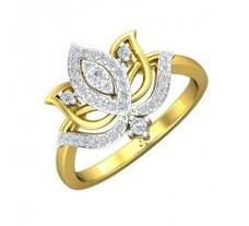 Natural Diamond Ring 0.32 CT / 3.68 gm Gold