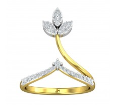Natural Diamond Ring 0.29 CT / 2.75 gm Gold