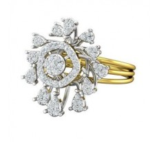 Natural Diamond Ring 0.53 CT / 5.40 gm Gold
