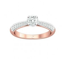 PreSet Natural Solitaire Diamond Ring 0.62 CT / 3.16 gm Gold
