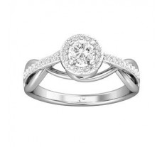PreSet Natural Solitaire Diamond Ring 0.50 CT / 3.57 gm Gold