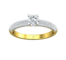 PreSet Natural Solitaire Diamond Ring 0.60 CT / 2.62 gm Gold