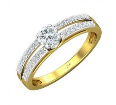 PreSet Natural Solitaire Diamond Ring 0.55 CT / 2.93 gm Gold
