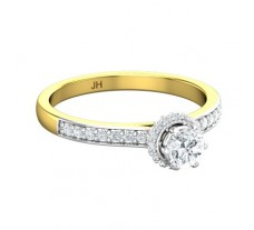 PreSet Natural Solitaire Diamond Ring 0.65 CT / 3.07 gm Gold