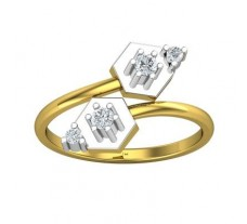 Natural Diamond Ring 0.18 CT / 2.70 gm Gold