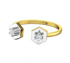 Natural Diamond Ring 0.13 CT / 2.20 gm Gold
