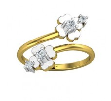 Natural Diamond Ring 0.18 CT / 2.40 gm Gold