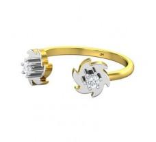 Natural Diamond Ring 0.13 CT / 2.10 gm Gold
