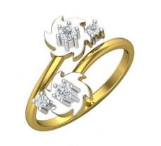Natural Diamond Ring 0.18 CT / 2.85 gm Gold