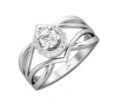 PreSet Natural Solitaire Diamond Ring 0.42 CT / 7.18 gm Gold