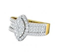 Natural Diamond Ring 0.98 CT / 4.85 gm Gold