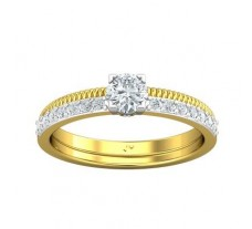 PreSet Natural Solitaire Diamond Ring 0.49 CT / 3.16 gm Gold