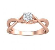PreSet Natural Solitaire Diamond Ring 0.30 CT / 3.10 gm Gold