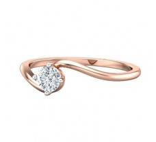 PreSet Natural Solitaire Diamond Ring 0.30 CT / 1.70 gm Gold