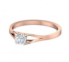 PreSet Natural Solitaire Diamond Ring 0.30 CT / 1.85 gm Gold