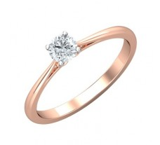 PreSet Natural Solitaire Diamond Ring 0.30 CT / 2.10 gm Gold