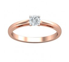 PreSet Natural Solitaire Diamond Ring 0.30 CT / 2.00 gm Gold
