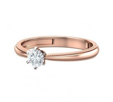 PreSet Natural Solitaire Diamond Ring 0.30 CT / 2.70 gm Gold