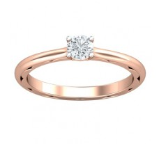 PreSet Natural Solitaire Diamond Ring 0.30 CT / 2.90 gm Gold