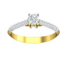 PreSet Natural Solitaire Diamond Ring 0.52 CT / 1.50 gm Gold