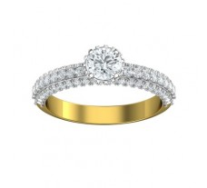 PreSet Natural Solitaire Diamond Ring 1.05 CT / 4.00 gm Gold