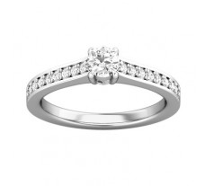 PreSet Natural Solitaire Diamond Ring 0.46 CT / 3.40 gm Gold