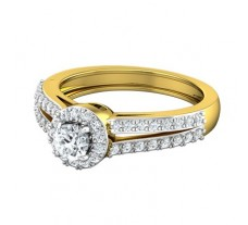 PreSet Natural Solitaire Diamond Ring 0.72 CT / 4.90 gm Gold