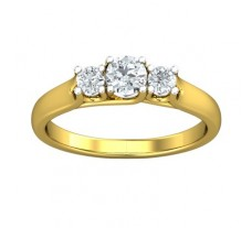 PreSet Natural Solitaire Diamond Ring 0.52 CT / 3.60 gm Gold