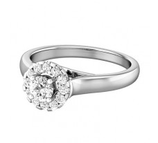 PreSet Natural Solitaire Diamond Ring 0.48 CT / 5.00 gm Gold