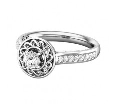 PreSet Natural Solitaire Diamond Ring 0.49 CT / 6.10 gm Gold