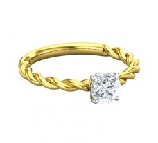 PreSet Natural Solitaire Diamond Ring 0.33 CT / 2.50 gm Gold