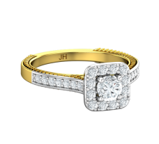 PreSet Natural Solitaire Diamond Ring 0.74 CT / 4.55 gm Gold