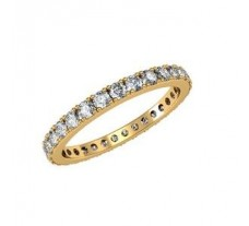 Eternity Natural Diamond Band 1.08 CT / 1.75 gm Gold