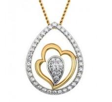 Natural Diamond Pendant 0.25 CT / 1.51 gm Gold