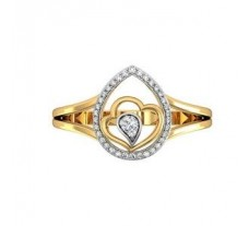 Natural Diamond Ring 0.18 CT / 2.20 gm Gold