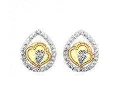Natural Diamond Earrings 0.20 CT / 4.50 gm Gold