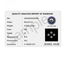 Certified Loose Diamonds 0.11 CT  VVS - FG  Round