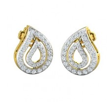 Natural Diamond Earrings 0.42 CT / 3.00 gm Gold