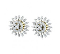 Natural Diamond Earrings 1.03 CT / 5.12 gm Gold