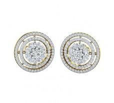 Natural Diamond Earrings 1.78 CT / 6.40 gm Gold