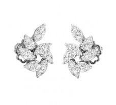 Natural Diamond Earrings 0.72 CT / 4.39 gm Gold
