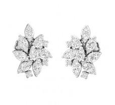 Natural Diamond Earrings 0.96 CT / 5.37 gm Gold