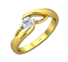 PreSet Natural Solitaire Diamond Ring  0.30 CT / 3.16 gm Gold