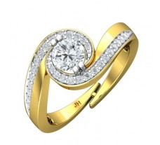 PreSet Natural Solitaire Diamond Ring 0.71 CT / 3.85 gm Gold
