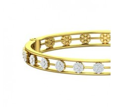 Natural Diamond Bangles 3.36 CT / 21.18 gm Gold