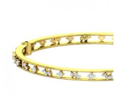 Natural Diamond Bangle 1.30 CT / 19.40 gm Gold